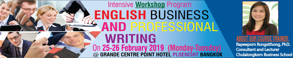 English Business and Professional Writing On 25-26 Feb. 2019