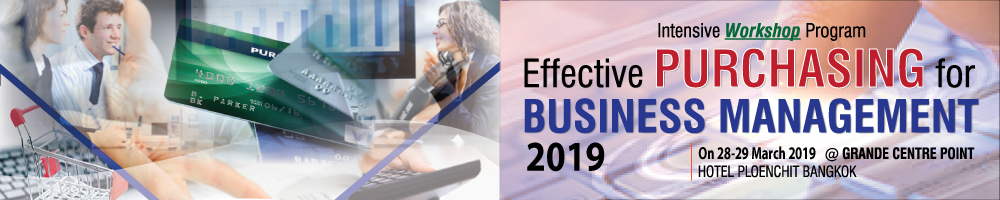 EFFECTIVE PURCHASING FOR BUSINESS MANAGEMENT 2019